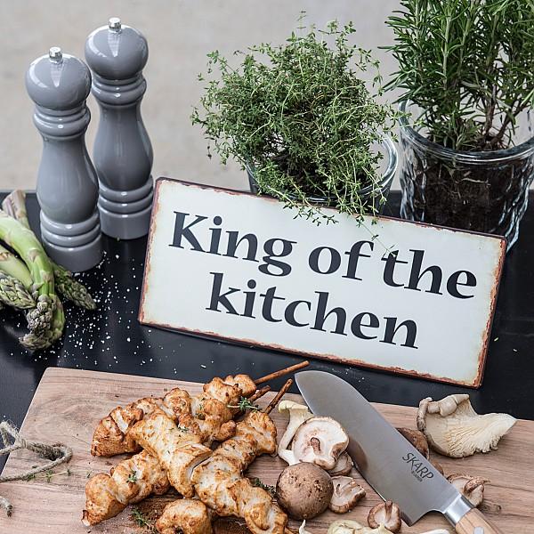 Plåtskylt King of the kitchen