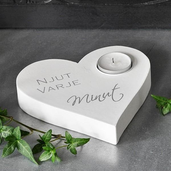 Ljushållare Hjärta Njut varje minut