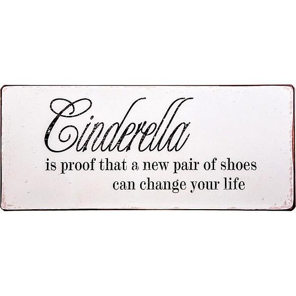 Plåtskylt Cinderella