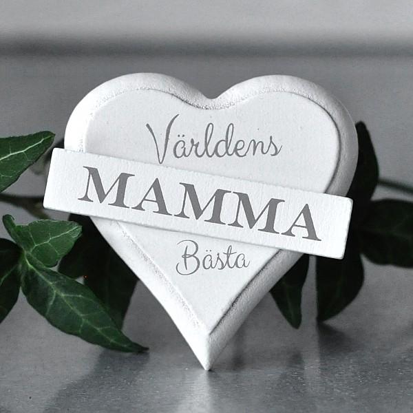 Magnet Hjärta Världens bästa Mamma