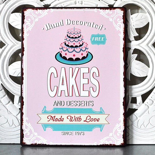 Plåtskylt Cakes and desserts made with love