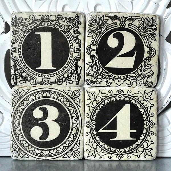 Glasunderlägg 1,2,3,4