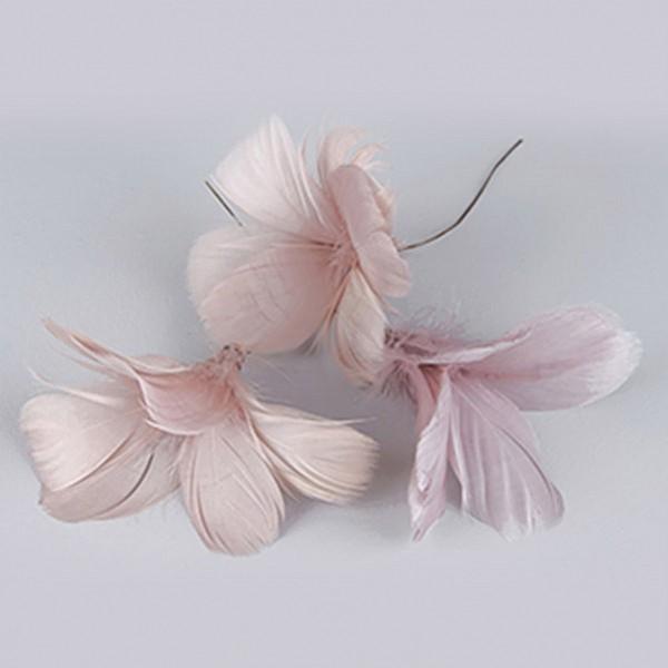 Påskfjädrar/Fjädrar Blom Gammalrosa - 12 st