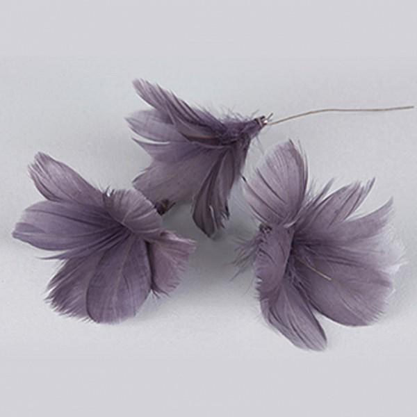 Påskfjädrar/Fjädrar Blom Lila - 12 st