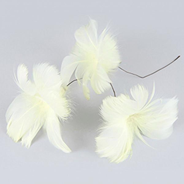 Påskfjädrar/Fjädrar Blom Gul - 12 st