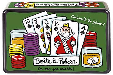 Plåtburk Poker med spel