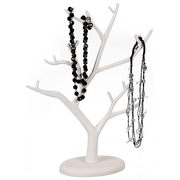 Smyckesträd i trä - Vit