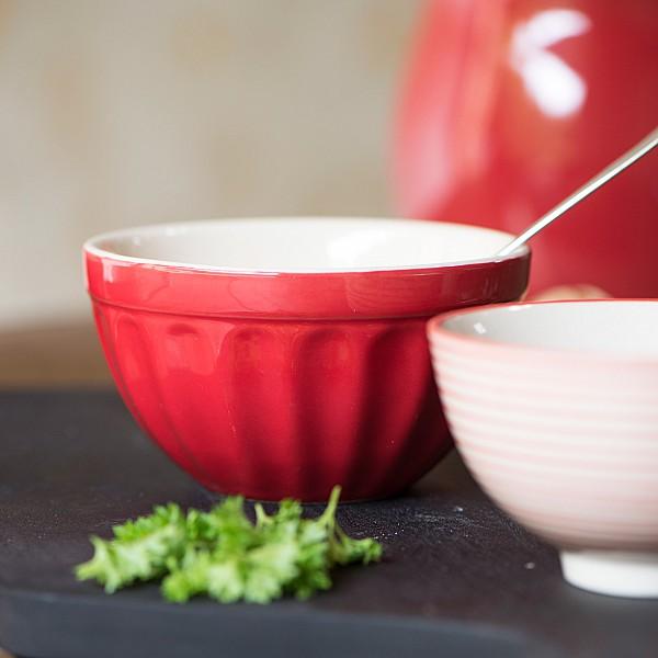 Musliskål Mynte - Strawberry - Röd