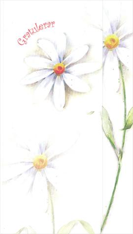 Hälsningskort Vita blommor