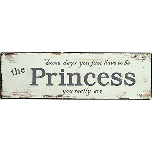 Plåtskylt The Princess you really are