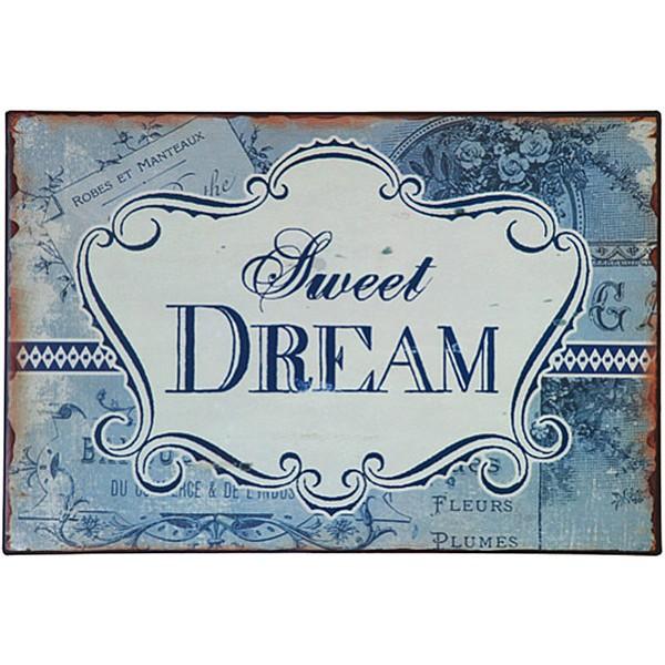 Plåtskylt Sweet Dream - Blå