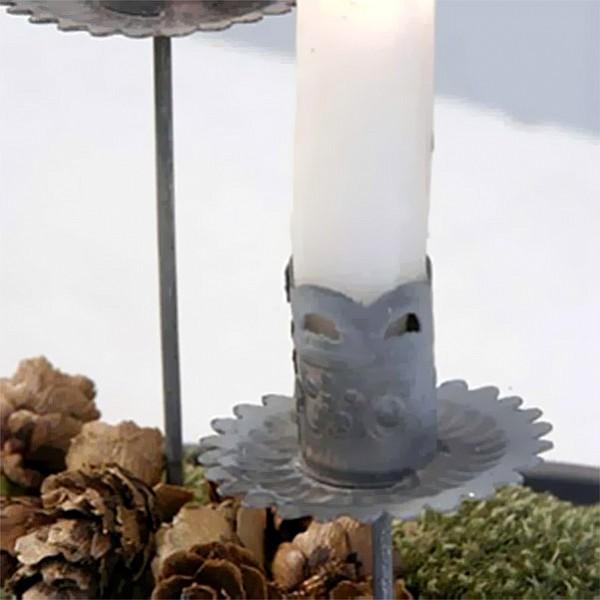 Ljushållare på pinne/stick - Zink