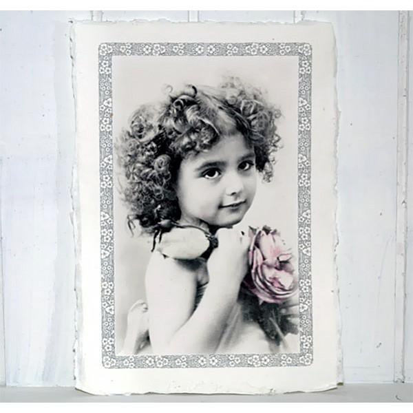 Bild Flicka med blomma