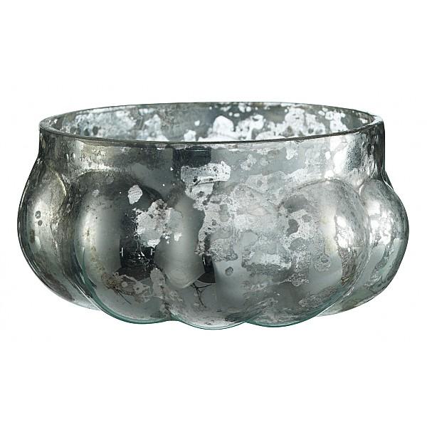 Liten ljuslykta/ljuskopp - Antik silver