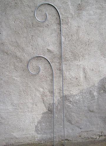 Blomstöd/Blompinne Zink - 40 cm