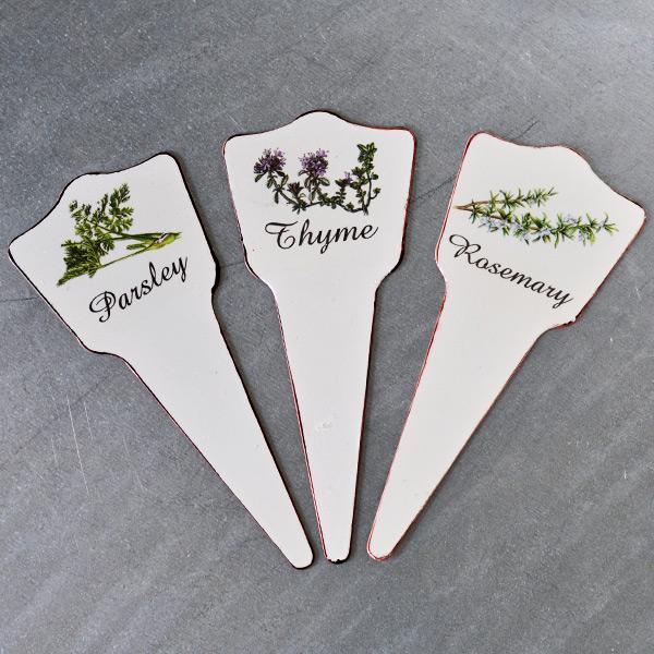 Planteringsskyltar Parsley, Thyme och Rosemary