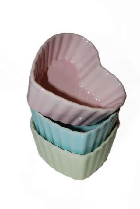 Ugnsform/Dessertskål Hjärta Pastell Turkos - Stor