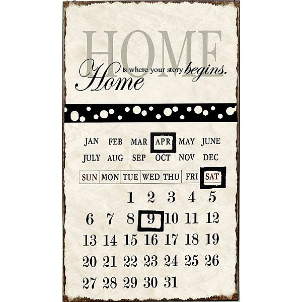 Kalender/Almanacka - Home is where our story begins