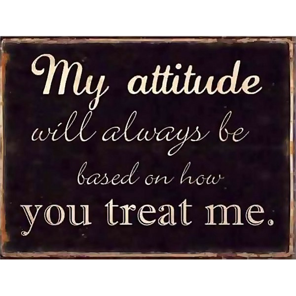 Plåtskylt My attitude