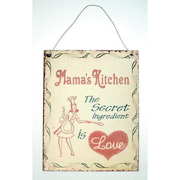 Plåtskylt Mama's Kitchen