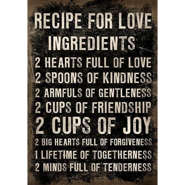 Canvastavla Recipe for love