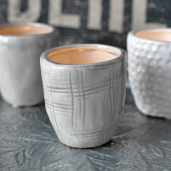 Ljuslykta/Minivas CUP Mönstrad Ljusgrå - Liten