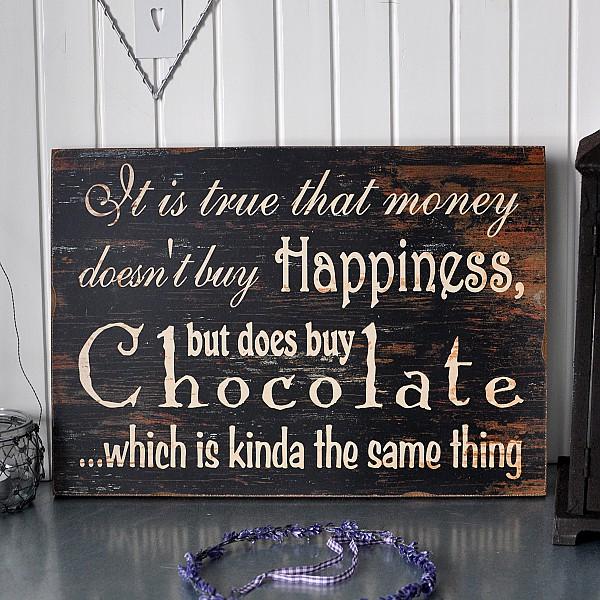 Träskylt Chocolate