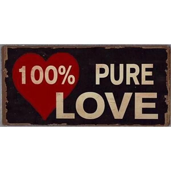 Magnet / Kylskåpsmagnet 100% Pure Love