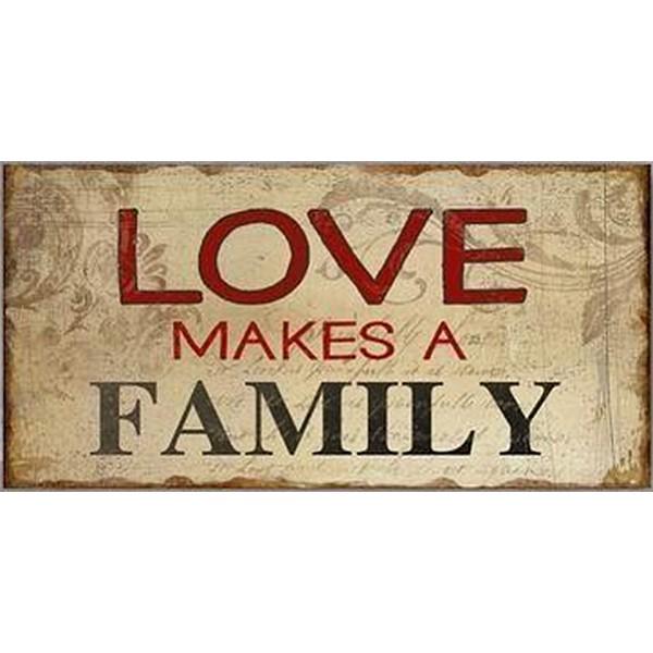 Magnet / Kylskåpsmagnet Love makes a family