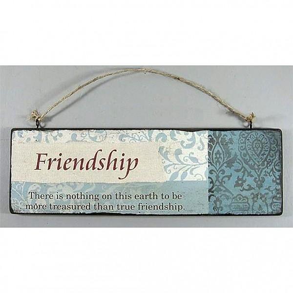 Träskylt Friendship