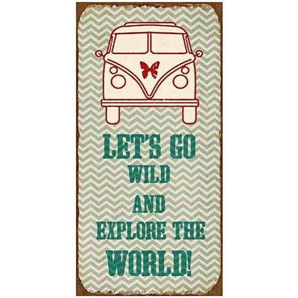 Magnet / Kylskåpsmagnet Let's go wild and explore the world