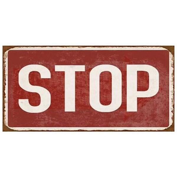 Magnet / Kylskåpsmagnet Stop