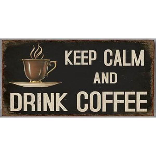 Magnet/Kylskåpsmagnet Keep calm and drink coffee
