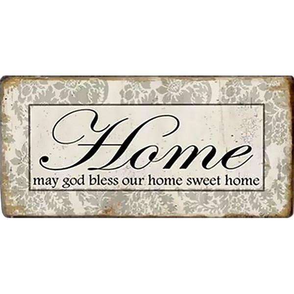 Magnet/Kylskåpsmagnet Home May god bless our home sweet home
