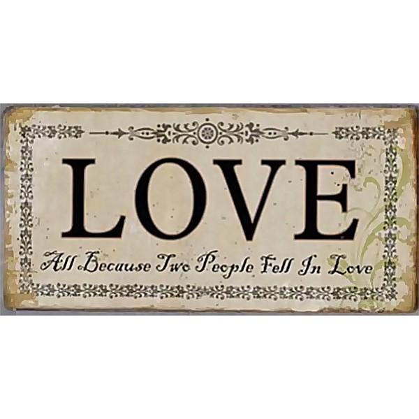 Magnet / Kylskåpsmagnet LOVE All because two people fell in love