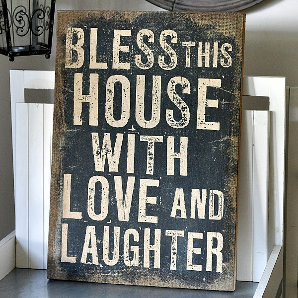 Canvas Bless This House With Love And Laughter La Finesse Webshop Mixin Home