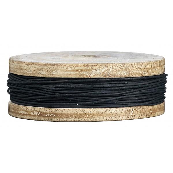 Läderrem Svart - 1 mm