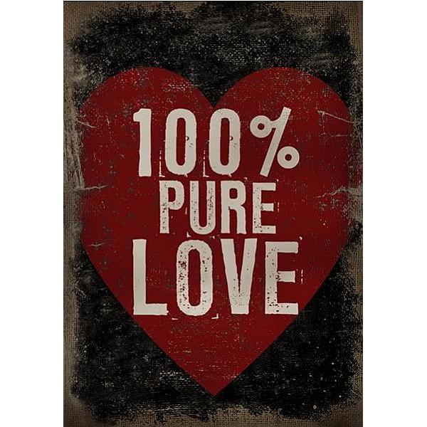 Canvastavla 100% Pure Love