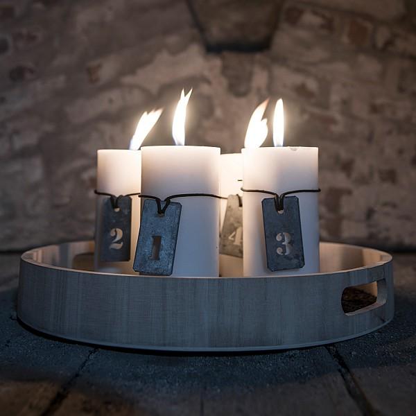 Zinkbrickor/skyltar Advent 1-4