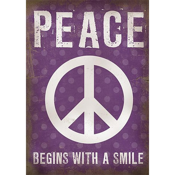 Canvastavla Peace begins with a smile
