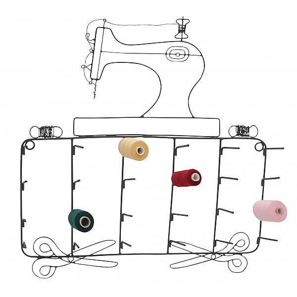 Trådrullehållare Symaskin 24 pinnar - Grå