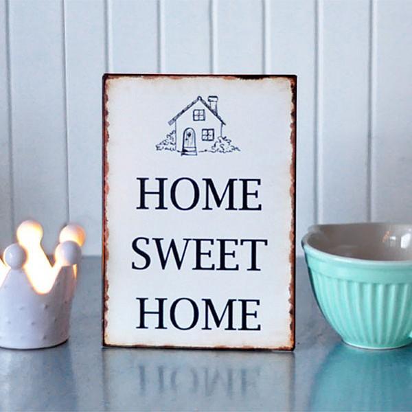 Plåtskylt Home Sweet Home