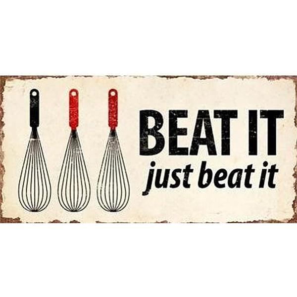Magnet/Kylskåpsmagnet Beat it just beat it