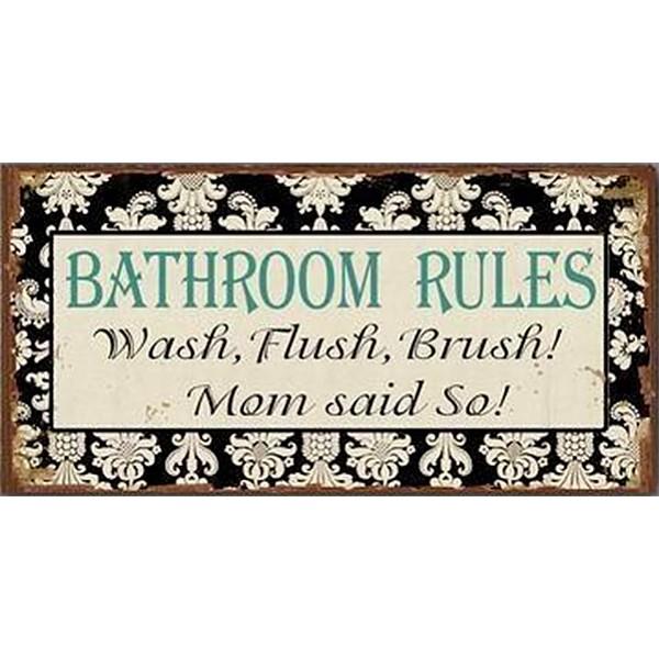 Magnet Bathroom Rules