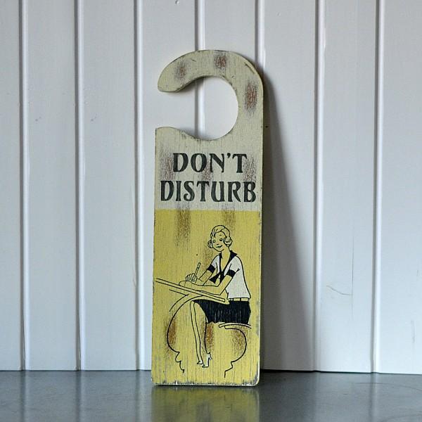 Dörrskylt - Don´t disturb