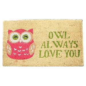 Dörrmatta Owl always love you