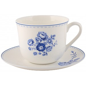 Tea Cup / Saucer Blue Rose