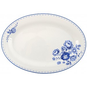 Side Plate Blue Rose