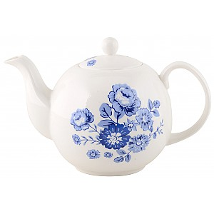 Teapot Blue Rose