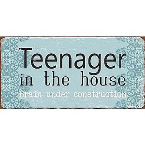 Magnet/Kylskåpsmagnet Teenager in the house brain under construction